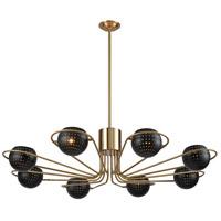 Dimond Lighting D3875 Scarab LED 47 inch New Aged Brass/Semi-Gloss Black Chandelier Ceiling Light