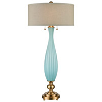 Dimond Lighting D3888 Orangerie 38 inch 60 watt Cafe Bronze/Aqua Glass Table Lamp Portable Light