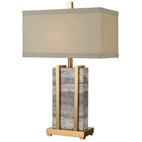 Dimond Lighting D3894 Harnessed 29 inch 150 watt Cafe Bronze/Grey Marble Table Lamp Portable Light