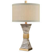 Dimond Lighting D3895 Clutch 28 inch 150 watt Cafe Bronze with Grey Marble Table Lamp Portable Light
