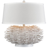 Dimond Lighting D3908 Cold Snap 22 inch 150 watt White Rattan Table Lamp Portable Light