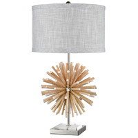 Dimond Lighting D3921 Brill 28 inch 150 watt White with Polished Nickel Table Lamp Portable Light