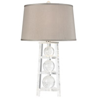 A Trois 27 inch 150 watt Clear Table Lamp Portable Light