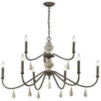 Dimond Lighting D3960 French Connection LED 42 inch Malted Rust/Gray Wood Chandelier Ceiling Light, Grande