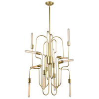 Dimond Lighting D3964 Winning LED 24 inch New Aged Brass with New Aged Brass Chandelier Ceiling Light