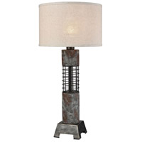 Dimond Lighting D3970 Gendarme 34 inch 100 watt Concrete with Grey Iron Outdoor Table Lamp