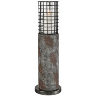 Dimond Lighting D3973 Gendarme 26 inch Concrete with Grey Iron Outdoor Table Lamp