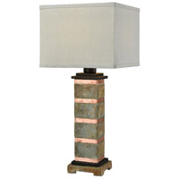 Dimond Lighting D3976 Controlled Burn 27 inch 100 watt Natural Slate with Copper Outdoor Table Lamp