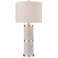 Sao Paulo 25 inch 100 watt Grey Terazzo with Polished Nickel Table Lamp Portable Light, Tall