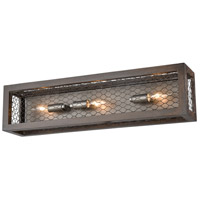 Dimond Lighting D3999 Renaissance Invention 3 Light 24 inch Aged Wood with Weathered Zinc Wall Sconce Wall Light