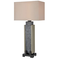 Glomma 32 inch 100 watt Washed Grey Slate with Polished Concrete Outdoor Table Lamp