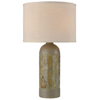 Artemis 26 inch 100 watt Natural Slate with Polished Concrete Outdoor Table Lamp