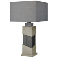 Inverness 29 inch 100 watt Black Slate with Polished Concrete Outdoor Table Lamp