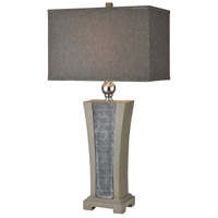 Dimond Lighting D4009 Volga 30 inch 150 watt Grey Slate with Concrete and Brushed Steel Table Lamp Portable Light