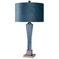 Dimond Lighting D4012 Huntress 31 inch 150 watt Matte Peacock Blue with Matte Gun Metal Table Lamp Portable Light, Tall