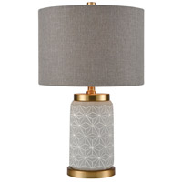 Dimond Lighting D4013 Brahe 20 inch 100 watt Concrete with Matte Gold Table Lamp Portable Light