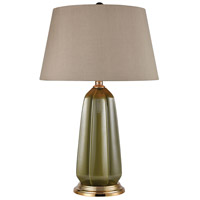 Privy Garden 27 inch 150 watt Olive Green with Aged Gold Table Lamp Portable Light