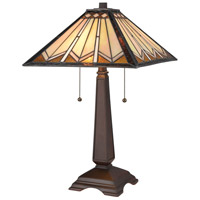 Fourpoints 22 inch 60 watt Tiffany Bronze Table Lamp Portable Light
