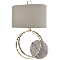 Dimond Lighting D4111 Moonstruck 29 inch 150 watt Silver Leaf with Grey Marble Table Lamp Portable Light