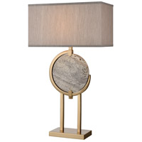 Dimond Lighting D4113 Arabah 32 inch 150 watt Grey Marble with Cafe Bronze Table Lamp Portable Light