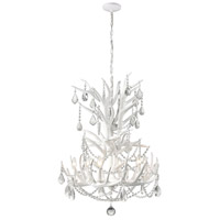 Big Sky 6 Light 25 inch White/Clear and Frosted Crystal Chandelier Ceiling Light, Tall