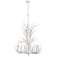 Dimond Lighting D4122WO Big Sky 6 Light 25 inch White/Clear Chandelier Ceiling Light Tall