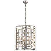 Dimond Lighting D4126 Panjandrum 4 Light 18 inch Silver Leaf Pendant Ceiling Light
