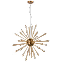 Dimond Lighting D4145 Spiritus LED 28 inch Amber with Aged Brass Pendant Ceiling Light