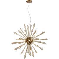 Dimond Lighting D4145 Spiritus LED 28 inch Amber with Aged Brass Pendant Ceiling Light