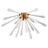 Dimond Lighting D4146F Spiritus LED 24 inch Aged Brass Flush Mount Ceiling Light