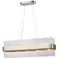 Dimond Lighting D4151 Such Teeth 13 Light 39 inch Satin Nickel Pendant Ceiling Light