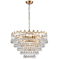 Dimond Lighting D4152 Juice 5 Light 23 inch Aged Brass Pendant Ceiling Light