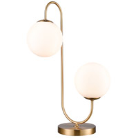 Moondance 22 inch 40 watt Aged Brass Table Lamp Portable Light