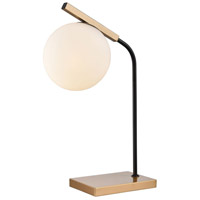 Crooner 22 inch 40 watt Aged Brass and Black Table Lamp Portable Light