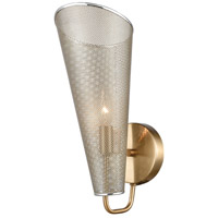 Encore 1 Light 6 inch Antique Silver with Satin Brass Sconce Wall Light