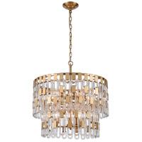 Dimond Lighting D4174 Blockchain 6 Light 17 inch Satin Brass Pendant Ceiling Light