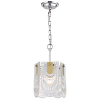 Darjeeling 1 Light 9 inch Polished Chrome Mini Pendant Ceiling Light, Small