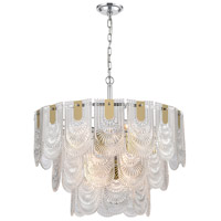 Dimond Lighting D4178 Darjeeling 12 Light 26 inch Polished Chrome Pendant Ceiling Light, Large