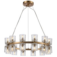 Dimond Lighting D4180 Double Vision 24 Light 25 inch Clear/Satin Brass Chandelier Ceiling Light