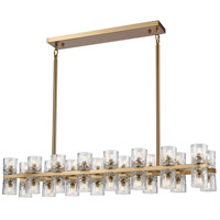 Dimond Lighting D4182 Double Vision 32 Light 42 inch Clear/Satin Brass Chandelier Ceiling Light