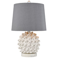Boucle 21 inch 150 watt Matte White Table Lamp Portable Light