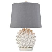 Dimond Lighting D4183 Boucle 21 inch 150 watt Matte White Table Lamp Portable Light