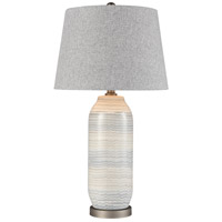 Dimond Lighting D4184 Wavelength 28 inch 150 watt Sediment Grey with Pewter Table Lamp Portable Light