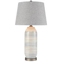 Dimond Lighting D4184 Wavelength 28 inch 150 watt Sediment Grey with Pewter Table Lamp Portable Light