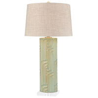 Dimond Lighting D4187 Wormwood 32 inch 150 watt Mint Dry Glaze Table Lamp Portable Light