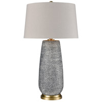 Dimond Lighting D4188 Rehoboth 30 inch 150 watt Horizon Blue Dot with Brushed Gold Table Lamp Portable Light