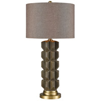 Dimond Lighting D4190 Brogue 30 inch 150 watt Brownstone Glaze with Brushed Gold Table Lamp Portable Light