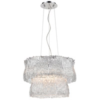 Dimond Lighting D4195 Bridalveil 6 Light 21 inch Polished Chrome with White Pendant Ceiling Light