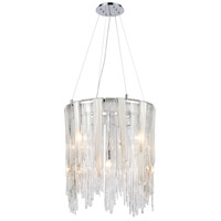 Dimond Lighting D4196 Watershed 8 Light 22 inch Polished Nickel with White Pendant Ceiling Light