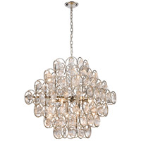 Dimond Lighting D4201 Precious 14 Light 34 inch Polished Nickel Pendant Ceiling Light